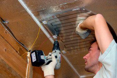 Инфракрасное гипсокартонное отопление в частном доме