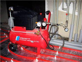 Компрессор для опрессовки системы отопления